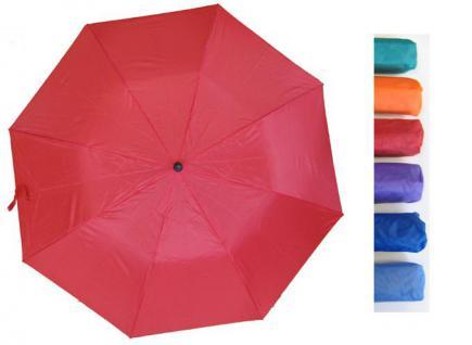 POINT Dunkel - Blau Lady Like Damen Regenschirme Knopfdruck Automatik 93 cm in 6 Farben -