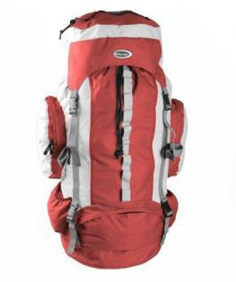ALSS Hannibal ROT - GRAU 75 Liter Trekkingrucksack Ultralight XXL Rucksack Reiserucksack Outdoor Trecking Wandern Reise