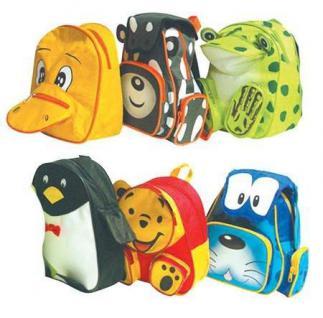 Kinder Rucksack Muh - Kuh Grau - Orange Weiss 1 Fronttasche 1 Toptaschen FÜr Den Kindergarten Taschen Rucksäcke - Vorschau 2