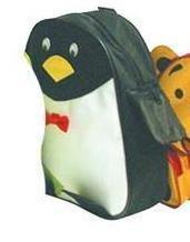 KINDER RUCKSACK PING PINGUIN WEISS SCHWARZ GELB ROT 2 SEITENTASCHEN 1 TOPTASCHE FÜR DEN KINDERGARTEN Taschen Rucksäcke