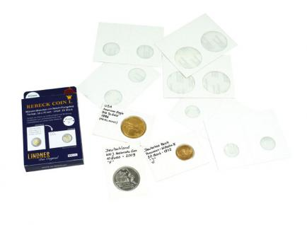 100 x Lindner Rebeck Coin L 22, 5 mm Münzrähmchen Coin Holder RC225