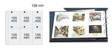 5 x SAFE 6020 Ergänzungsblätter WEISS Postkarten Ansichtskarten 6 Taschen 108 x 155 mm für 12 Karten - Vorschau