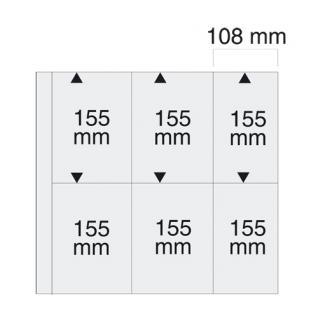 5 x SAFE 6021 Ergänzungsblätter SCHWARZ Postkarten Ansichtskarten 6 Taschen 108 x 155 mm für 12 Karten - Vorschau