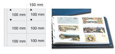 5 x SAFE 6241 Ergänzungsblätter Klar Postkarten Ansichtskarten 6 Taschen 160 x 108 mm für 12 Karten - Vorschau