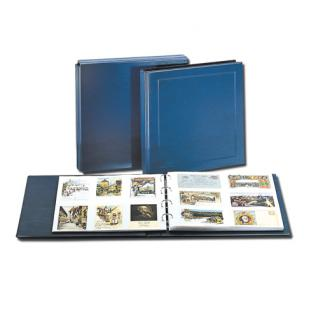 SAFE 6005 Postkartenalbum Album Ringbinder Yokama Blau leer erweiterbar bis 500 Ansichtskarten Postkarten Fotos Banknoten