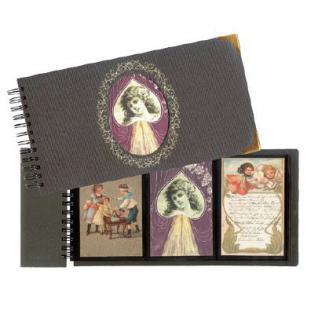 SAFE 6039 Postkartenalbum Album Nostalgie mit Golddruck mit Wechsel Deko Karte im Cover + 5 Karten für bis 72 Ansichtskarten