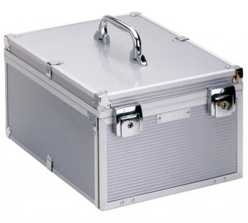 LINDNER 2358 Boxen-Koffer Münzboxenkoffer Koffer Aluminium (leer) für 8 Münzboxen oder 4 Sammelboxen