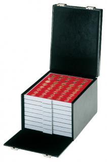 LINDNER 2319NW Boxen-Koffer COMPACT SCHWARZ Münzboxkoffer Koffer Gross befüllt mit 8 Münzboxen oder 4 Sammelboxen FREIE AUSWAHL