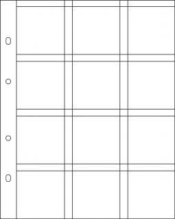 10 Hartberger 8308 Münzblätter BIG 12 Felder + Textfelder für Münzrähmchen Standard 50 x 50 mm