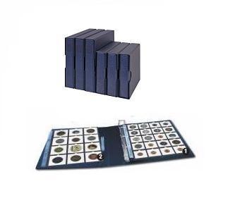Hartberger 8201-B Blaue Schutzkassette für Ringbinder Münzalbum Münrähmchen 8200 - Vorschau 2