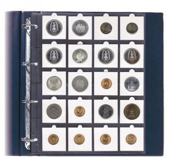 10 Hartberger 8310 Münzblätter BIG STANDARD 20 Felder für Münzrähmchen 50 x 50 mm