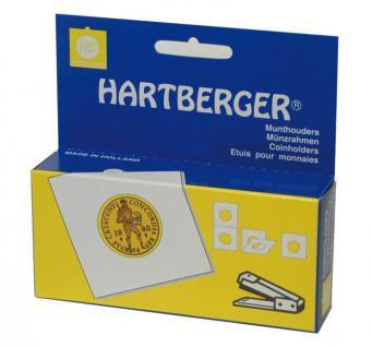 100 HARTBERGER Lindner Münzrähmchen 22, 5 mm zum heften 8332225 - Vorschau
