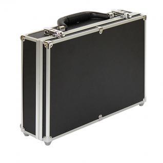 LINDNER 2338-280 MÜNZKOFFER im schwarzen Alu Design 8 Tableaus bis 39 mm + 200 original Münzkapseln 32, 5 PP für 10 Euro - Vorschau 2