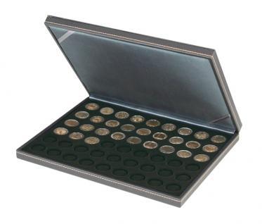 LINDNER 2364-2154CE Nera M Münzkassetten Einlage Carbo Schwarz für 54 x Münzen 25, 75 mm für 2 Euro Münzen