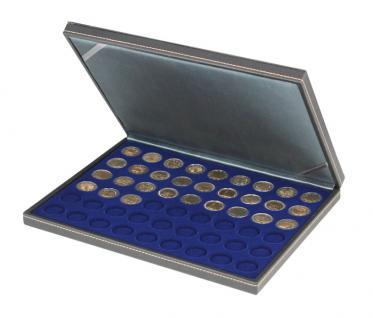 LINDNER 2364-2154ME Nera M Münzkassetten Einlage Marine Blau für 54 x Münzen 25, 75 mm für 2 Euro Münzen