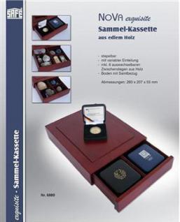 SAFE 6880 Echtholz Holz Sammelkassetten Setzkasten Muscheln Donnerkeile Schmuck Ketten Ringe Miniaturen