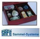 SAFE 6880 Echtholz Holz Sammelkassetten Setzkasten Muscheln Donnerkeile Schmuck Ketten Ringe Miniaturen - Vorschau 5