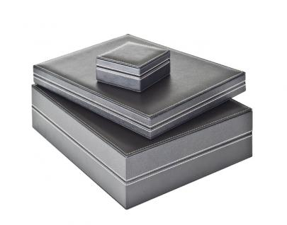LINDNER 2365-2145CE Nera XL Münzkassetten 3 Einlagen Carbo Schwarz Mixed für 135 x Münzen - 24, 28, 39, 44 mm die Starter Box - Vorschau 3