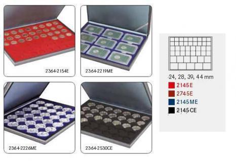 LINDNER 2364-2145CE Nera M Münzkassetten Carbo Schwarz Mixed für 45 x Münzen - 24, 28, 39, 44 mm die Starter Box - Vorschau 2