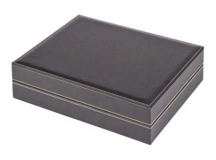 LINDNER 2365-2711E Nera XL Münzkassetten mit 3 Dunkelroten Roten Einlagen 105 Fächer für Münzen bis 32, 50 mm für 10 Euro / DM - 20 Euro Gedenkmünzen - Vorschau 3