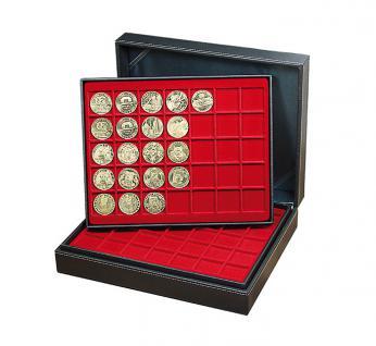 LINDNER 2365-2135CE Nera XL Münzkassetten 3 Einlagen Carbo Schwarz 105 Fächer für Münzen 36 x 36 mm 5 Reichsmark 100 ÖS Schillinge - Vorschau 4