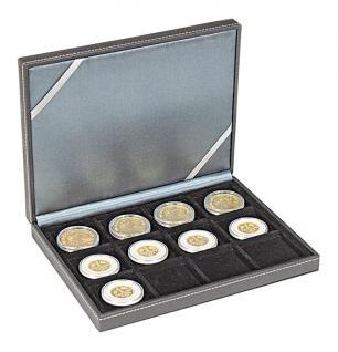 LINDNER 2363-12 Nera XM Münzkassetten Sammel Kassetten mit 12 Fächern für Münzen bis 52 mm & bis Münzkapseln Standard 46 -
