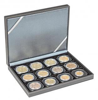 LINDNER 2363-12 Nera XM Münzkassetten Sammel Kassetten mit 12 Fächern für Münzen bis 52 mm & bis Münzkapseln Standard 46 - - Vorschau 2