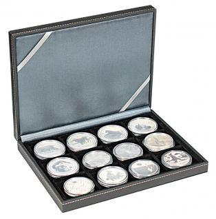 LINDNER 2363-12 Nera XM Münzkassetten Sammel Kassetten mit 12 Fächern für Münzen bis 52 mm & bis Münzkapseln Standard 46 - - Vorschau 4