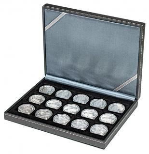 LINDNER 2363-15 Nera XM Münzkassetten Sammel Kassetten mit 15 Feldern für Münzen bis 40 mm & bis Münzkapseln 33 - 34 mm