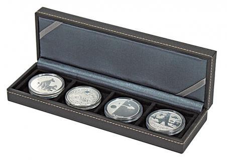 LINDNER 2362-4 Nera S Münzkassetten mit 4 Feldern Münzen bis 52 mm & bis Münzkapseln 46 mm Octo Quadrum Münzkapseln Münzrähmchen - Vorschau 3