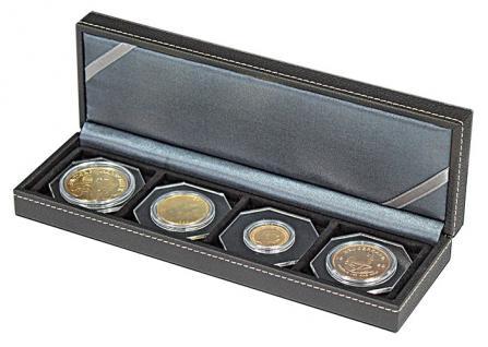 LINDNER 2362-4 Nera S Münzkassetten mit 4 Feldern Münzen bis 52 mm & bis Münzkapseln 46 mm Octo Quadrum Münzkapseln Münzrähmchen - Vorschau 4