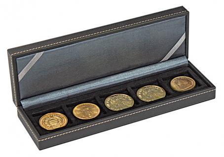 LINDNER 2362-5 Nera S Münzkassetten mit 5 Feldern für Münzen bis 40 mm & bis Münzkapseln 33 - 34 mm - Vorschau 3