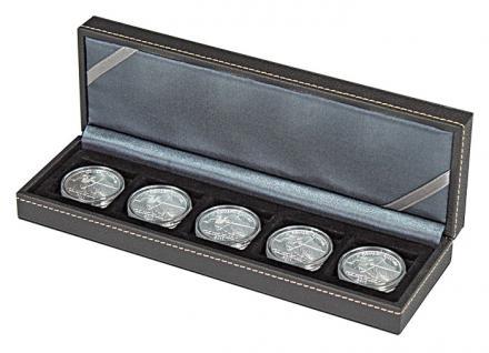 LINDNER 2362-5 Nera S Münzkassetten mit 5 Feldern für Münzen bis 40 mm & bis Münzkapseln 33 - 34 mm