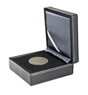 LINDNER 2366 Nera XS Münzetui mit Patenteinlage für Münzen 70 mm & bis Münzkapseln 64 & Octo Carree Quadrum