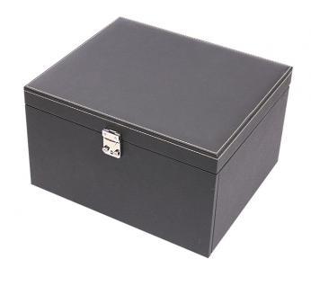 LINDNER 2373-2402E NERA KABINETT Sammelkassette Schmuckkassette Uhrenkassette 3 Schuber 2402E mit 2 Fächen 105x280 mm & variablen Stegen für die Facheinteilung - Vorschau 3