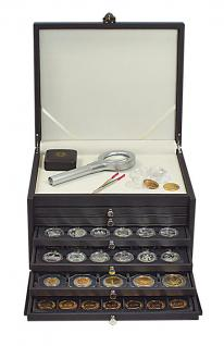 LINDNER 2373-2402E NERA KABINETT Sammelkassette Schmuckkassette Uhrenkassette 3 Schuber 2402E mit 2 Fächen 105x280 mm & variablen Stegen für die Facheinteilung - Vorschau 4