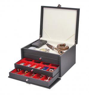 LINDNER 2373 NERA KABINETT Sammelkassetten mit hellem Ablagefach + 3 großen Schubladen in 4 Farben über 27 Modellen FREIE AUSWAHL - Vorschau 4
