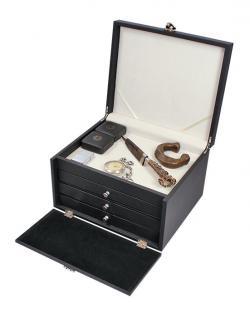 LINDNER 2373 NERA KABINETT Sammelkassetten mit hellem Ablagefach + 3 großen Schubladen in 4 Farben über 27 Modellen FREIE AUSWAHL - Vorschau 2