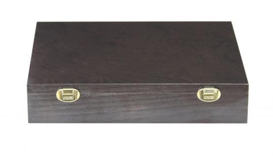 LINDNER 2494-10 CARUS-4 Echtholz Holz Münzkassetten 4 Tableaus dunkelrot 216 Fächer Münzen bis 25, 75 x 25, 75 mm 2 Euro Münzen - Vorschau 2