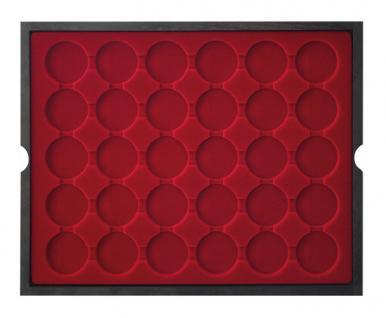 LINDNER 2494-8 CARUS Echtholz Holz Münzkassetten 4 Tableaus 120 Fächer Münzen bis 39 x 39 mm bis Münzkapseln 32, 5 - 33 - 10 Euro - Vorschau 3