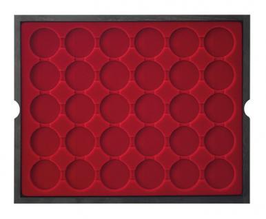 LINDNER 2494-9 CARUS Echtholz Holz Münzkassetten 120 Fächer Münzen 37x 37 mm Für 10 DM - 10 - 20 Gedenkmünzen bis Münzkapseln 32, 5 PP original ohne Rand - Vorschau 3