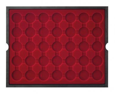 LINDNER 2494-11 CARUS Echtholz Holz Münzkassetten 4 Tableaus 140 Fächer Münzen bis 32 x 32 mm 2 Euro in Münzkapseln 26 - Vorschau 3