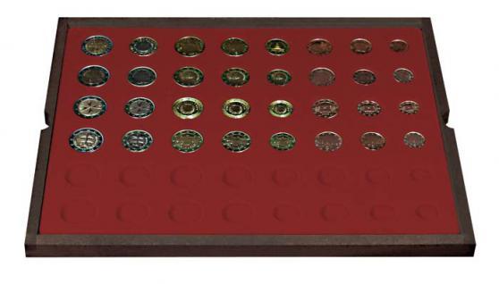 LINDNER 2494-12 CARUS Echtholz Holz Münzkassetten 4 Tableaus für 24 komplette Euro Münzen KMS Kursmunzensätze 1 Cent - 2 Euro - Vorschau 4