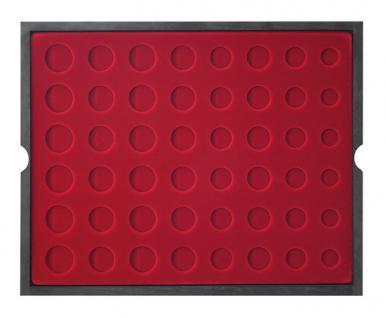 LINDNER 2494-12 CARUS Echtholz Holz Münzkassetten 4 Tableaus für 24 komplette Euro Münzen KMS Kursmunzensätze 1 Cent - 2 Euro - Vorschau 3