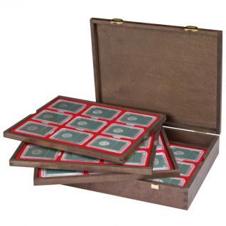 LINDNER 2494-19 CARUS Echtholz Holz Münzkassetten 4 Tableaus 36 Fächer 64 x 86 mm für original US Slabs Münzkapseln - Vorschau 4