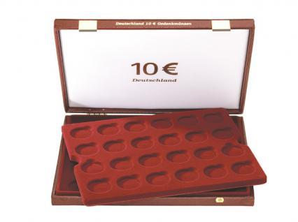 LINDNER 2450 Luxus Kassetten mit 2 Tableaus für 48 x 10 Gedenkmünzen Euromünzen Deutschland