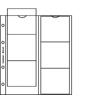 10 x LINDNER K1P Karat Münzblätter Ergänzungblätter 6 Felder 75 x 65 mm mit rotem Zwischenblatt / ZWL - Vorschau 1