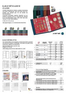 10 x LINDNER K1P Karat Münzblätter Ergänzungblätter 6 Felder 75 x 65 mm mit rotem Zwischenblatt / ZWL - Vorschau 2