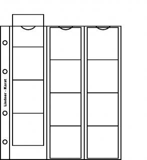 10 x LINDNER K2R Karat Münzblätter Ergänzungsblätter 12 Felder 48 mm Ø mit rote Zwischenblätter / ZWL - Vorschau 2