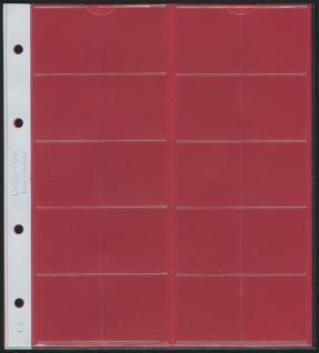 1 x LINDNER K3R Karat Münzblätter Ergänzungsblätter 20 Felder 38 mm Ø mit rotem Zwischenblatt / ZWL - Vorschau 1
